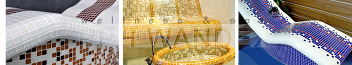 leżaki, ławy ceramiczne podgrzewane